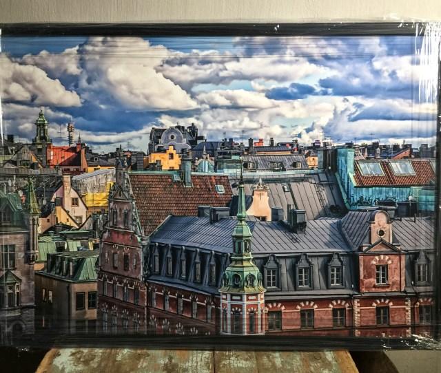 Stockholmsfotograf vy över gamla stan