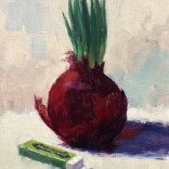 Onion And Gum 7x5 oil on panel