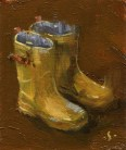 mini #28 - rainboots 2x2.5 oil