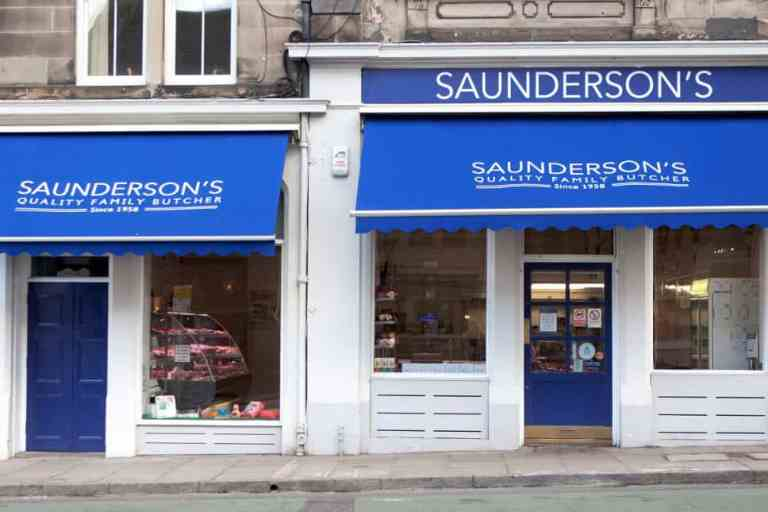 Saunderson's Edinburgh butcher's shop Edinburgh Tollcross