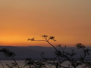 Sunset at Dead Sea