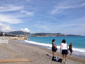 Gravel beach in Nice
