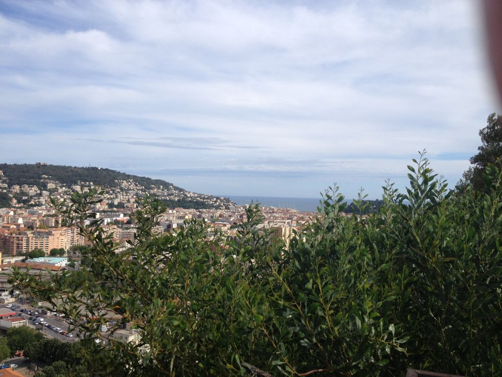 View on the Mediterranean from the Garden