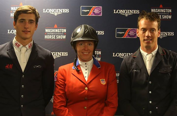Three top winners jumping WIHS 2015