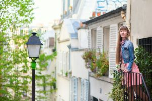 Beautiful young woman on Montmartre in Paris