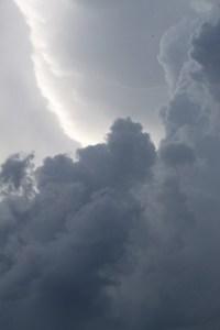 Regenwolken am Himmel