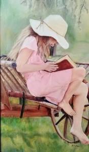 Girl with Book Sally Sacha