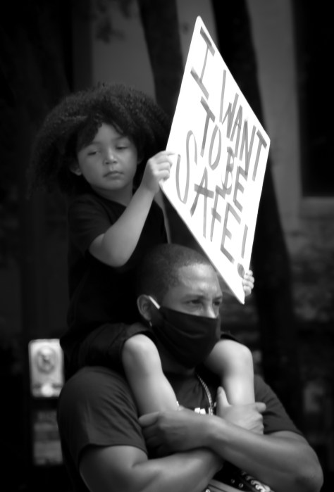 I Want To Be Safe - BLM March Tanya Z. Graham