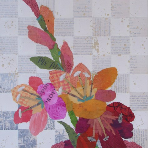 Jane Kelley A Checkered Past But A Rosy Future Triptych 1