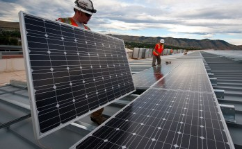 Solar Power System Installation — Photo courtesy U.S. Department of Energy