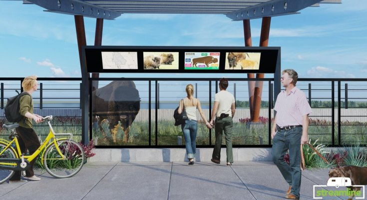Bison Bridge Viewing Area as proposed.