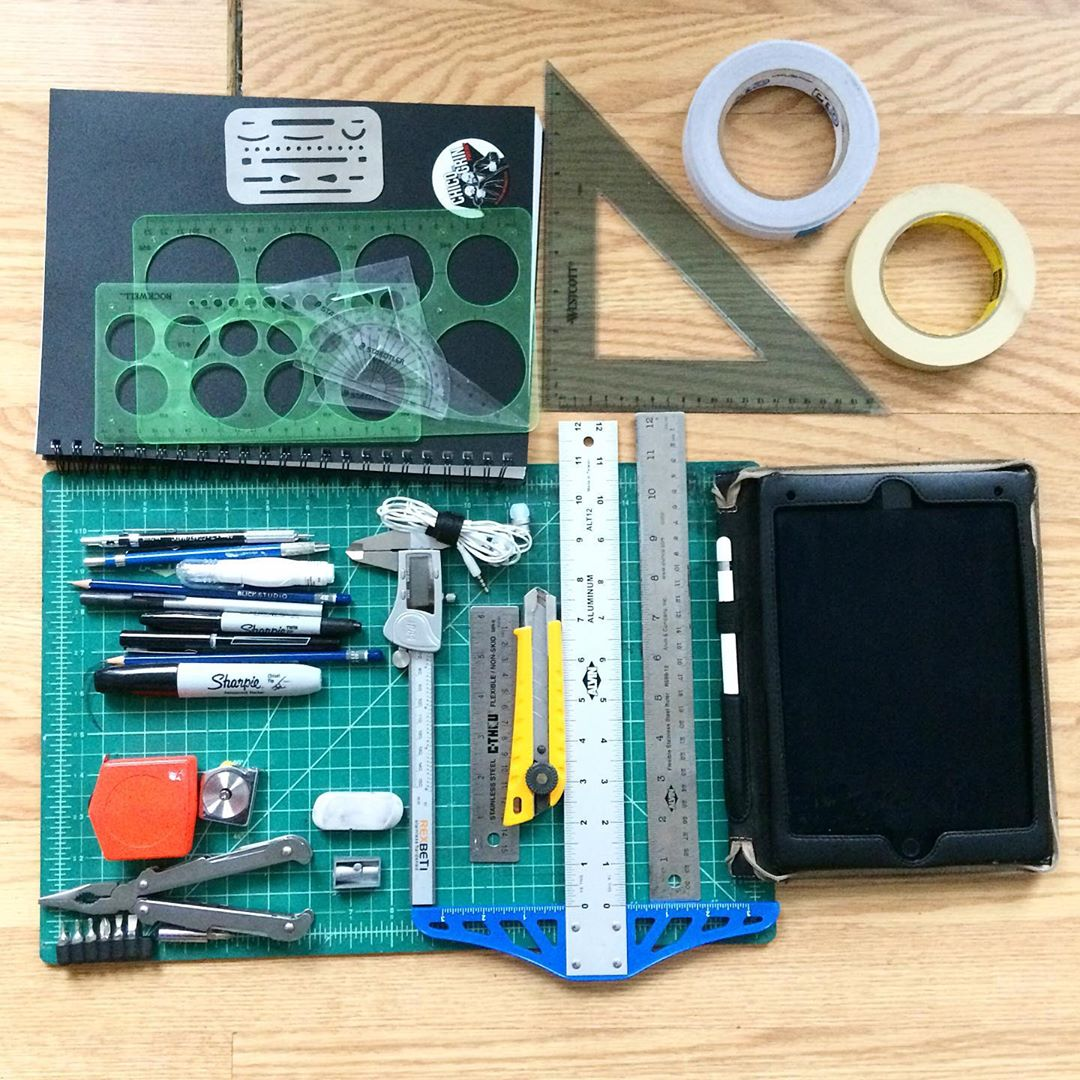 Schools back in session! So many I.D. projects on the way! Here's a look at my #industrialdesign #EDC so far.