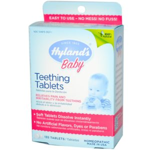 Box of Hyland's Baby Teething Tablets