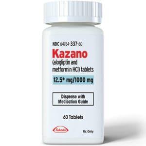 Bottle of 12.5 mg Kazano tablets
