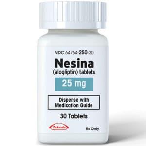 25 mg Nesina tablets in bottle