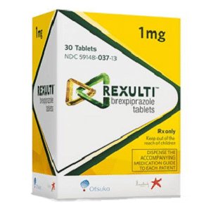 Rexulti box with 1mg tablets