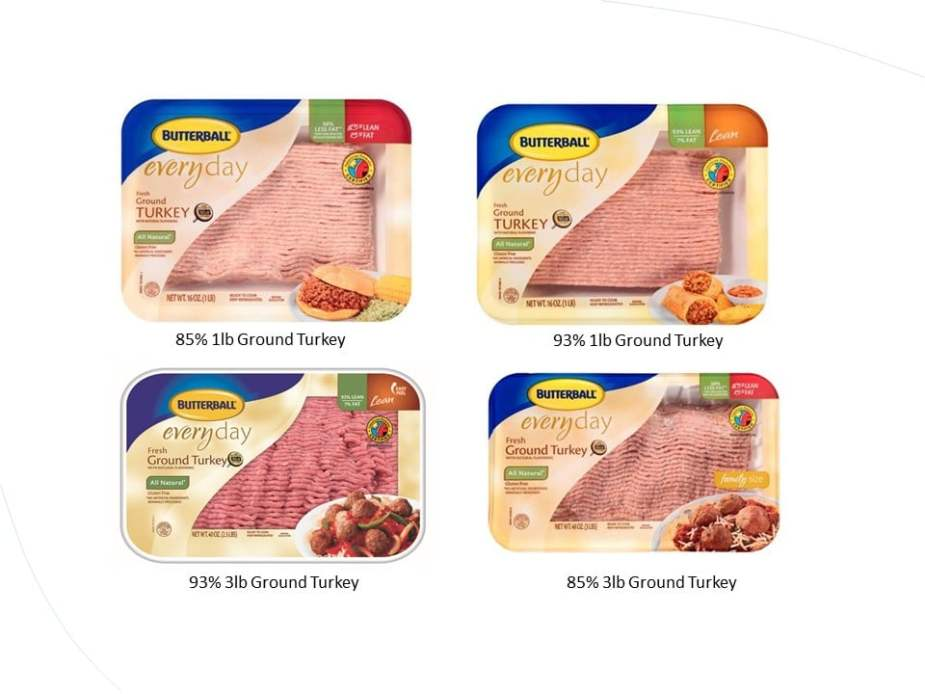 Images of Butterball turkey packaging