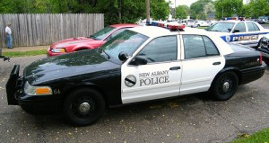 new albany ohio police car