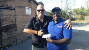 Willie Johnson with another happy customer