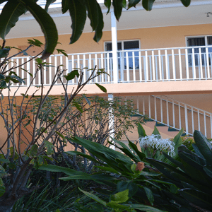 Motel from the courtyard