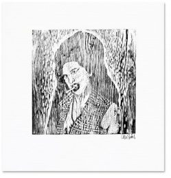 Amy Winehouse Woodcut
