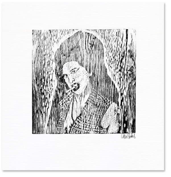 Amy Winehouse Woodcut done in an expressionist style. A larger format than I am used to.