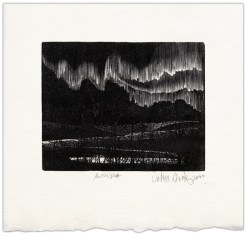 aurora borealis wood engraving