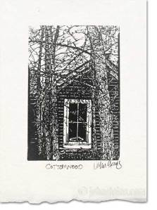 cottonwood wood engraving