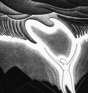 Eric Bergman wood engraving