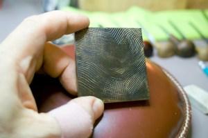 smile wood engraving