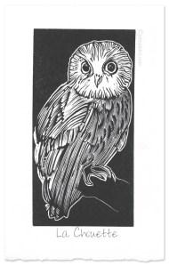 """""""La Chouette"""" ~ wood engraving print ~ © John Steins"""