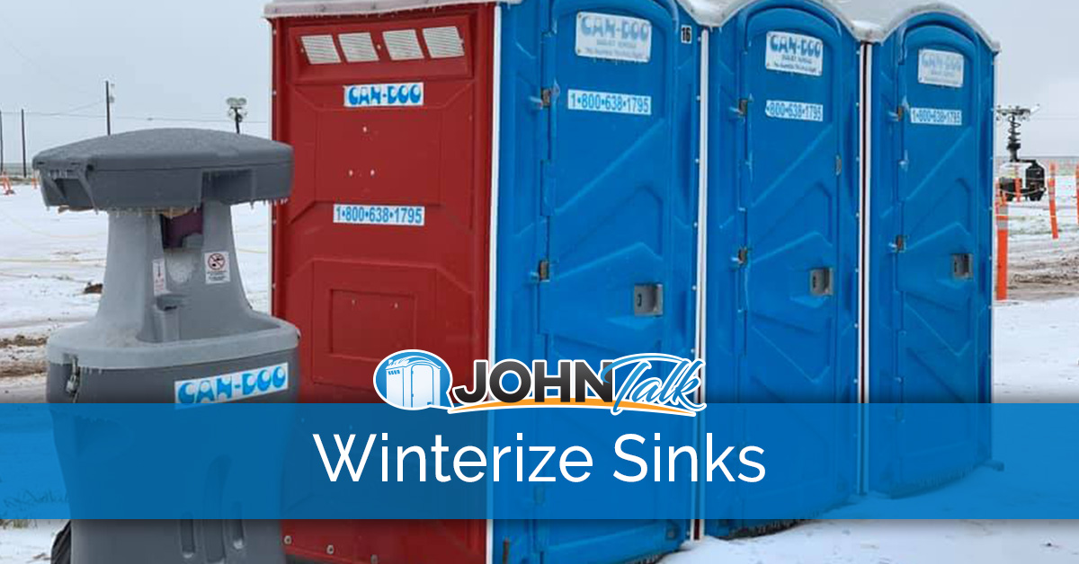 how to winterize portable sinks johntalk
