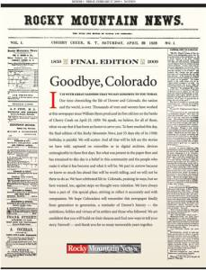 The final edition of the Rocky Mountain News