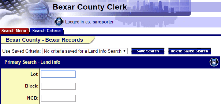 How to research a property's history using Bexar County's free records search