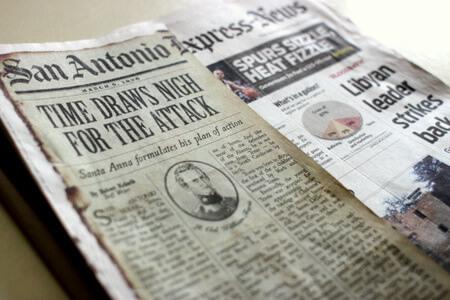 San Antonio Express-News Alamo Front Page