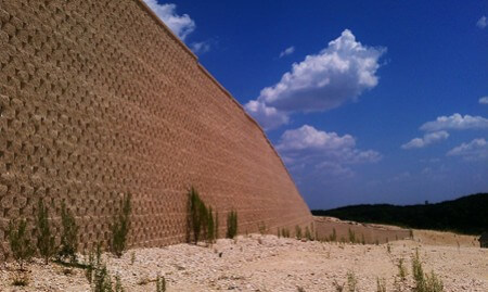 Retaining wall at the Heights of Crownridge in San Antonio