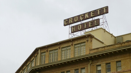 Crockett Hotel in San Antonio Texas