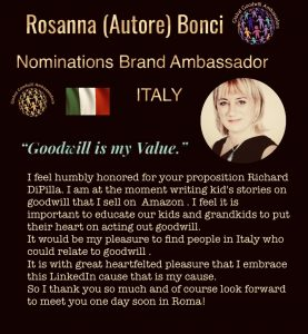 Rosanna Bonci -chair Italy Global Goodwill Ambassadors