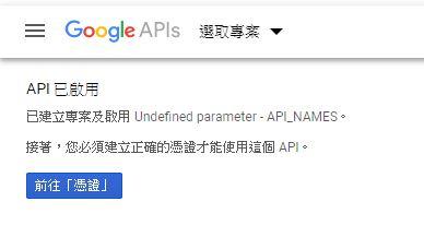 API 已啟用