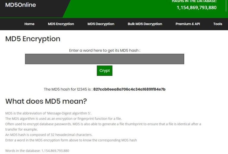 MD5('12345')