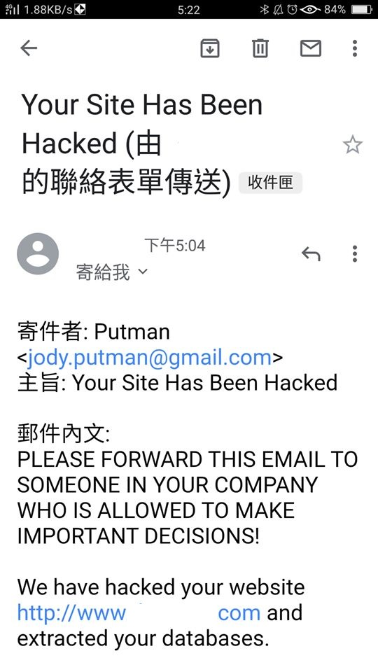 Your Site Has Been Hacked