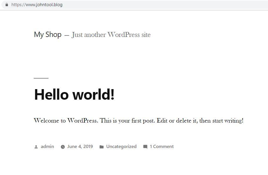 WordPress架設完成