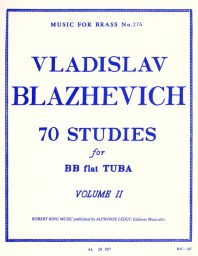 70 Studies for BB flat Tuba Volume II