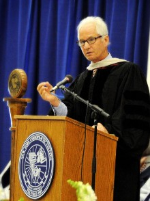Giving the New York Chiropractic College commencement