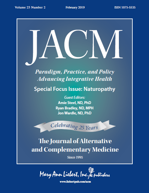 Naturopathy's Scientific Journey via a Journal Special Issue