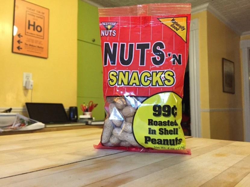 Trpohy bag of nuts n' snacks