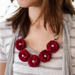Fabric Flower Bib Necklace Tutorial Johwey Redington