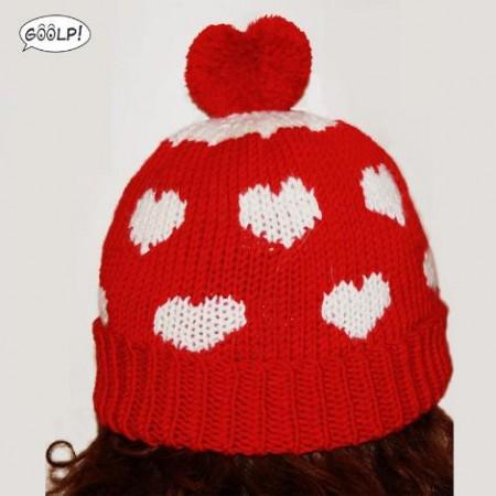 cappello-lana-cuori