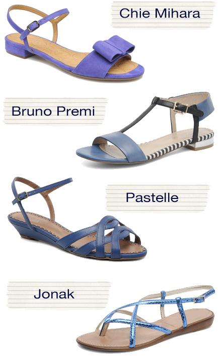sandali colore blu