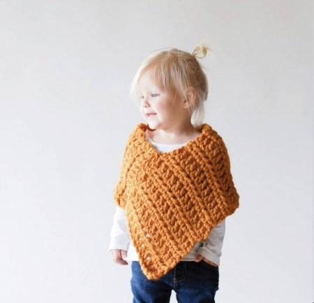 poncho bambina lana
